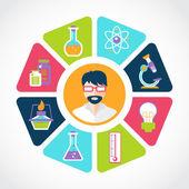 Chemistry concept illustration — Stock Vector