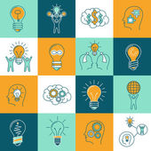 Idea icons set — Stock Vector