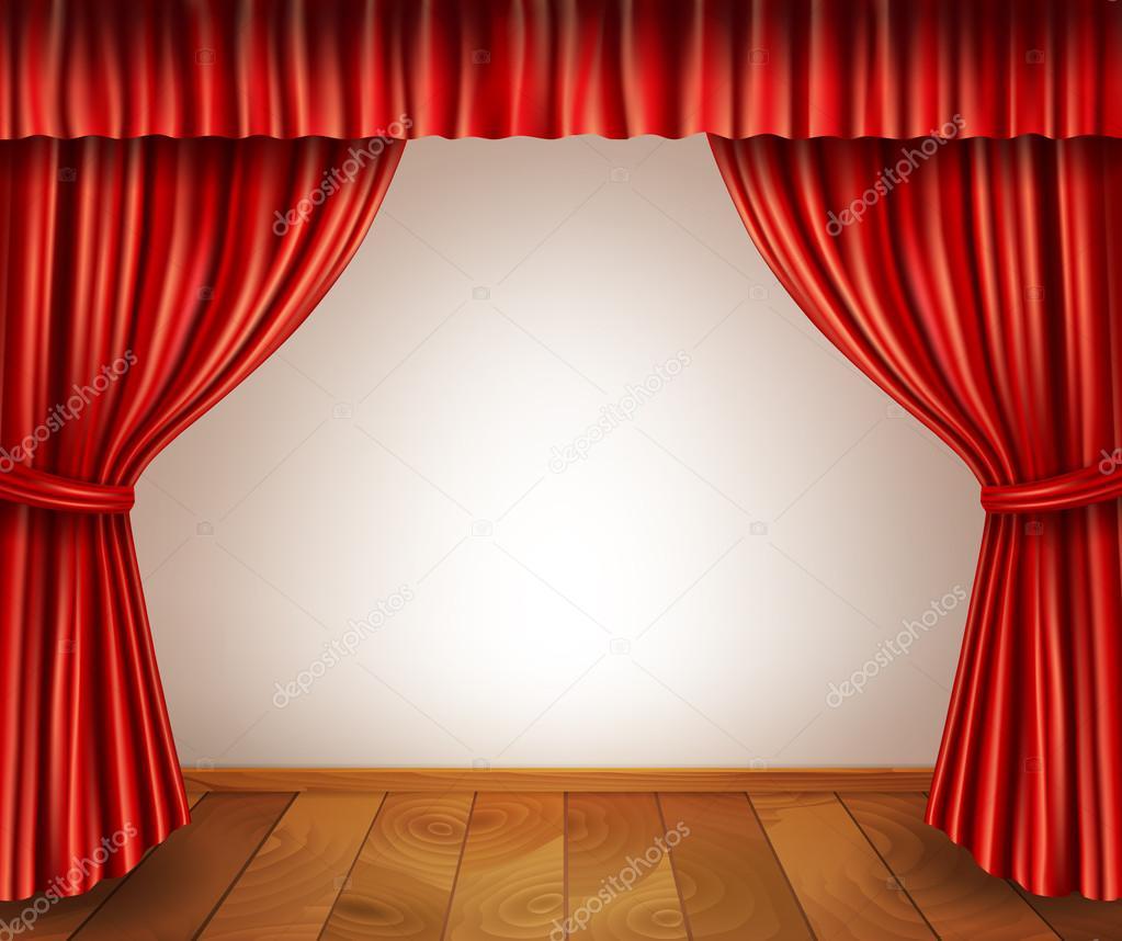 Fondo de escenario de teatro — Vector de stock © macrovector ...
