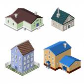 Residential house buildings — Stock Vector