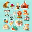 Circus stickers set — Stock Vector #58810851