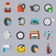 Tire service icon flat — Stock Vector #58975513