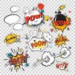 Comic boom set — Stock Vector #58976517