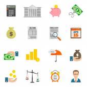 Tax icon flat — Stock Vector