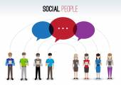 Social people concept — Stock Vector