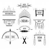 Tribal labels set — Stock Vector