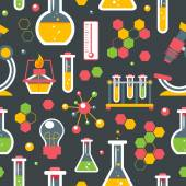 Chemistry seamless pattern — Stock Vector