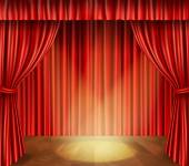 Theater stage background — Stock Vector