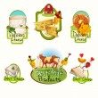 Cheese labels set — Stockvector  #59249793
