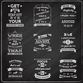 Success quotes set chalkboard — Stock Vector