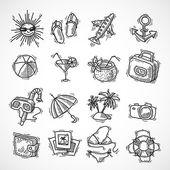 Summer vacation icon set — Vetorial Stock