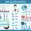 Постер, плакат: Pharmacist infographics set