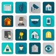 Home Security Icons Flat — Stock Vector #59266371