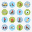 Disabled Icons Set Flat — Stock Vector #59266765