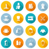 Clothes Designer Icons Flat — Stockvector