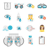 Oculist flat icons — Stock Vector