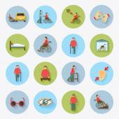 Disabled Icons Set Flat — Stock Vector