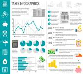 Tax infographics set — Stock Vector