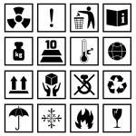 Packing Symbols Black — Stock Vector #59547251