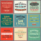 Success quotes colored set — Stock Vector