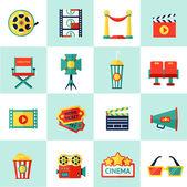 Cinema Icon Set — Stock Vector