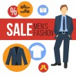 Men Fashion Clothes Sale — Stock Vector #59950591