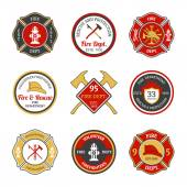 Fire department emblems — Stock Vector