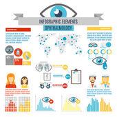 Oculist Infographic Set — Stock Vector