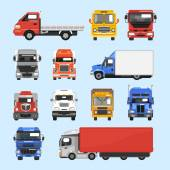 Truck Icons Set — Stock Vector