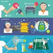 Tennis Banner Set — Stock Vector