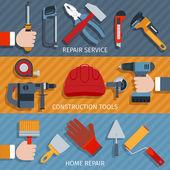 Repair tools banners — Stock Vector