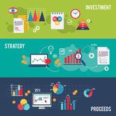 Business banner set — Stock Vector