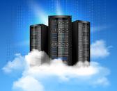 Cloud computing poster — Stock Vector