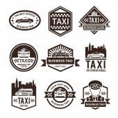 Taxi Black Label Set — Stock Vector