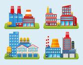 Industrial Building Set — Stock Vector