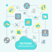 Network And Server Infographics — Stock Vector