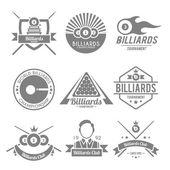 Billiards Black Label — Stockvektor