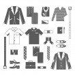 Business Man Clothes Icons Set — Stock Vector #60300095