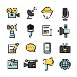 News Reporter Icons — Stock Vector #60302399