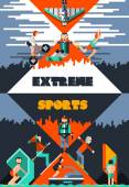 Extreme Sports Poster — Stock Vector