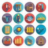 Carpentry icons flat — Stock Vector