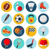 Sport ikoner set — Stockvektor