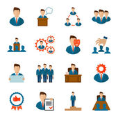 Executive icons flat — Stock Vector
