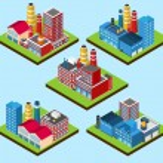Industrial Buildings Isometric — Stock Vector #60321767