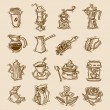 Coffee sketch icons set — Stock Vector #60327371