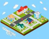 Isometric City Project — Stock Vector