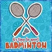 Badminton sketch background — Stock Vector
