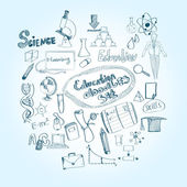 Education Doodle Set — Stock Vector