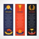 Постер, плакат: Award banner set