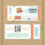Cinema Tickets Set — Stock Vector #62207705